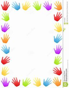 Colored Hands Border Frame Stock Images - Image: 30156204