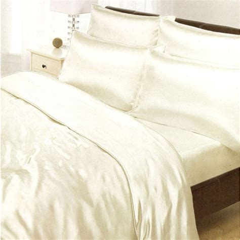 satin bedding sets duvet cover fitted sheet