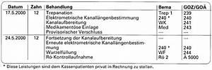 Bema Abrechnung : abrechnung nach bema und goz endodontie eine gegen berstellung ~ Themetempest.com Abrechnung