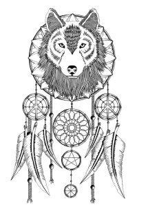 Adult Coloring Pages: Dreamcatcher 2 | Coloring Pages for