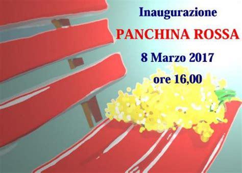 Panchina Chiavari by Chiavari Panchina Rossa Contro I Femminicidi