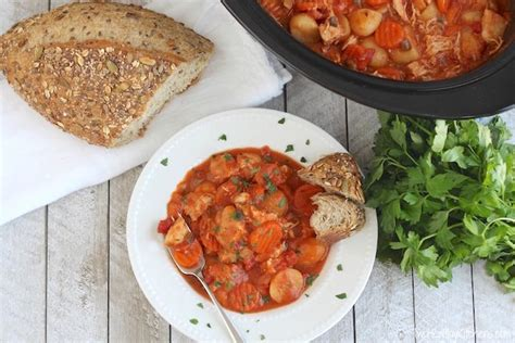Try these cozy ground beef pasta dishes for an easy, affordable family meal from delicious casseroles made in the instant pot to baked or in the skillet. Creamy Crock Pot Chicken Stew with Potatoes, Carrots and Tomatoes Recipe {www.TwoHealthyKi ...