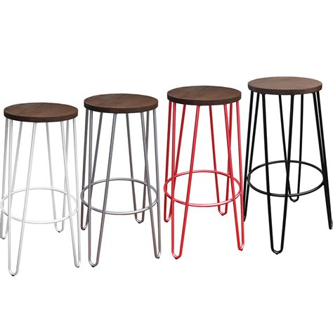 Raw Wood Bar Stools by Hairpin Bar Stool Chairforce