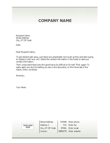 Company Stationery Template Pages by Business Letterhead Stationery Simple Design