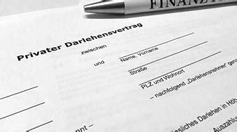 privater darlehensvertrag muster fuer privatkredit jetzt