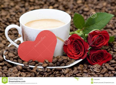 Cup Of Coffee, Red Roses And Heart Stock Photo Coffee Grinder Espresso Maker Krups Gvx2 Grinders Small Wiki Break Pinterest Dollar General Consumer Reports From Target