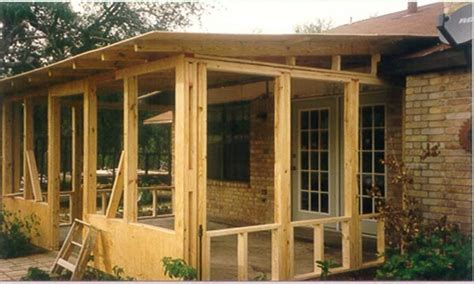 Screened Patio Designs by Doors Windowsscreened In Porch Plans Vintage Screened