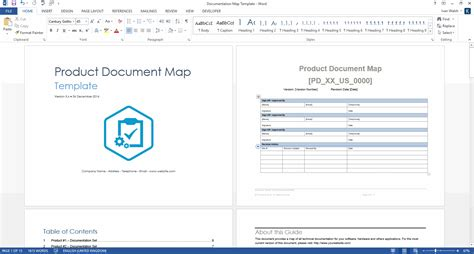 Template Word Product Document Map Template Ms Word
