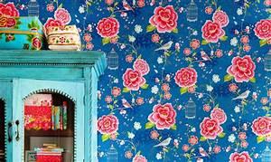 Papier Peint Japonisant : papier peint motif on adore floral baroque ~ Premium-room.com Idées de Décoration
