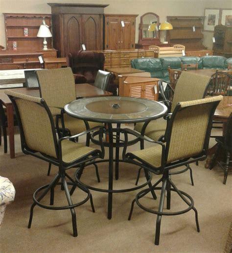 pub table w 4 swivel chairs delmarva furniture consignment
