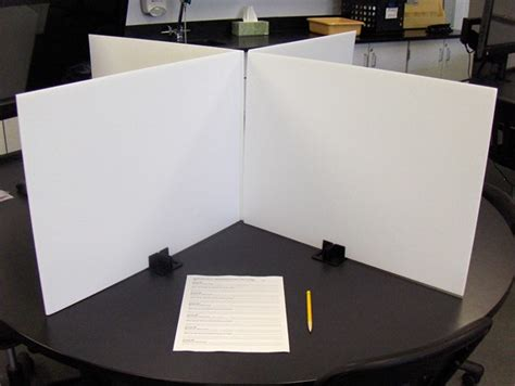cardboard privacy screens for desks test dividers