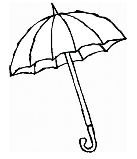 printable umbrella template clipartsco