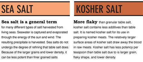 mineral salt vs table salt rock salt vs sea salt