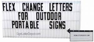 Flex letters portable sign letters flex change letters for Flex change letters