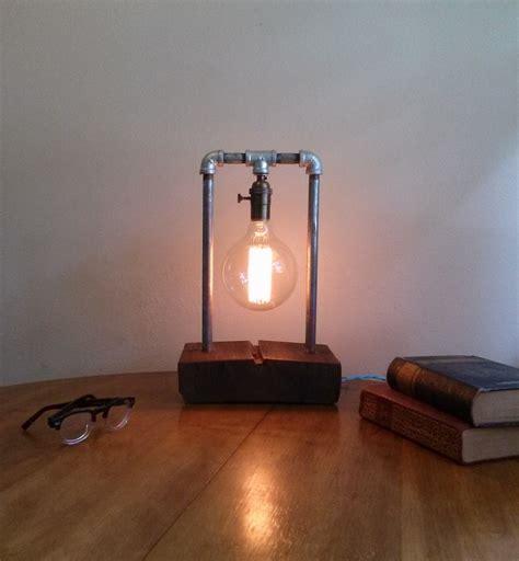 edison bulb desk l buy a hand made barnwood table l edison l