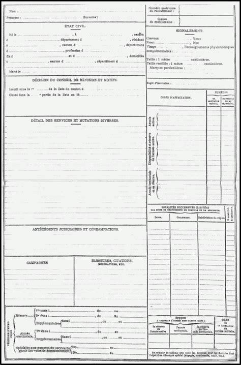 bureau du recrutement la fiche matricule du combattant de la guerre 1914 1918 1