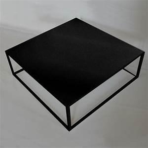 Table Basse Noire Design : table basse noire carree maison design ~ Teatrodelosmanantiales.com Idées de Décoration