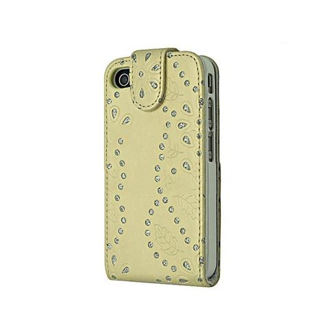 housse iphone 4 4s or strass flip htcn