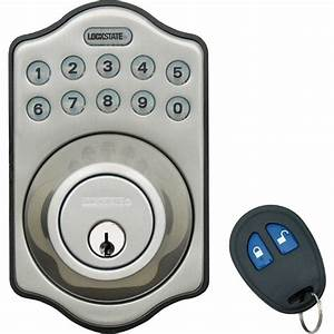 lockstate electronic keyless deadbolt lock with remote With automatic door lock for home