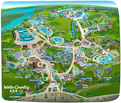 Busch Gardens And Water Country Usa park map water country usa