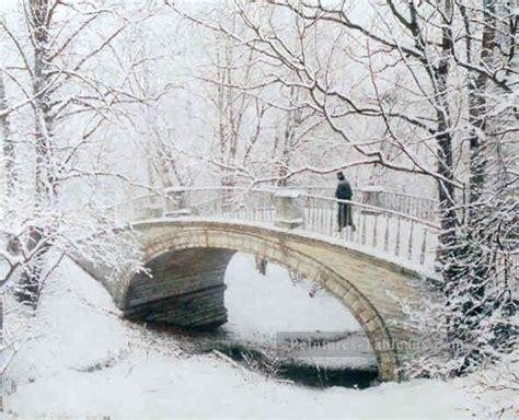 tableau chambre b sn024b impressionnisme neige paysage peinture tableau en vente