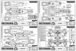 USCSS Nostromo (Small Blueprint Version) by Hydride-Ion on ...