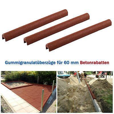 Wieviel Beton Für Randsteine by Gummigranulat 220 Berzug F 220 R 60 Mm Beton Rabatten Randsteine