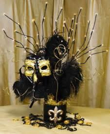 Black and Gold Masquerade Centerpieces