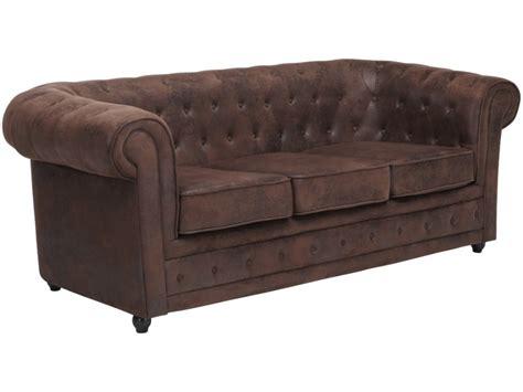 canapé en cuir vieilli canapé en microfibre aspect cuir vieilli chesterfield