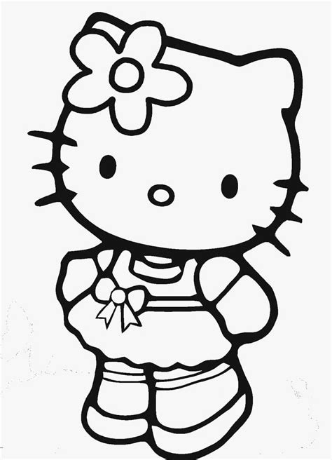 11 Free Printable Hello Kitty Coloring Pages 1NZA