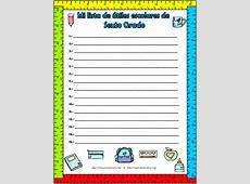 Lindos formatos y listas de útiles escolares de todos los