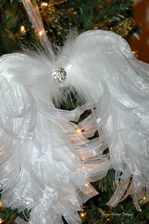 hometalk diy angelic organdy ribbon angel wings