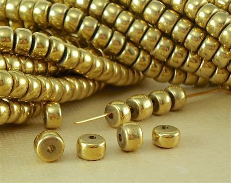 20 Brass Beads Rondelles Crow Disc Metal Bead Spacer 6mm X 4mm