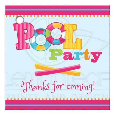 coming favor tags girls pool party