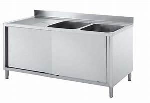 Evier Grand Bac Profond : meuble evier inox brico depot table de lit a roulettes ~ Melissatoandfro.com Idées de Décoration
