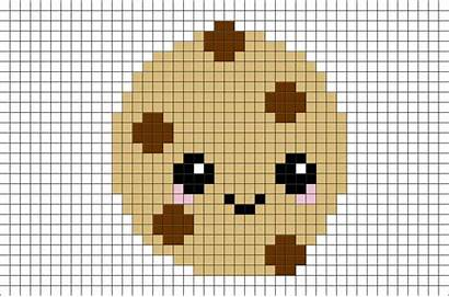 Pixel Cookie Minecraft Graph Paper Perler Templates