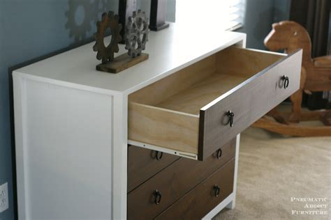 ana white modern white dresser  wood drawers diy
