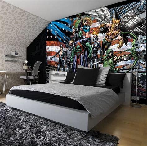justice legaue cartoon kids bedroom wall murals