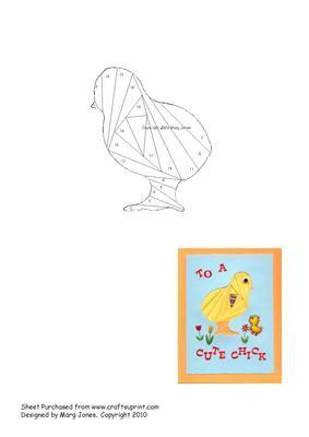 chick iris folding pattern cup craftsuprint