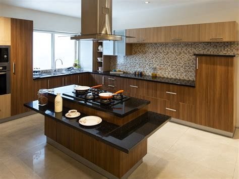 woody touch island modular kitchen india homelane