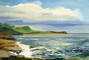 Ocean Landscape Maine by LenaAkhumova on DeviantArt