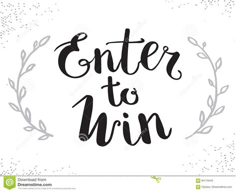 enter to win template enter to win vector sign win prize win in lottery stock illustration illustration of contest