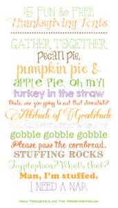 15 and free thanksgiving fonts