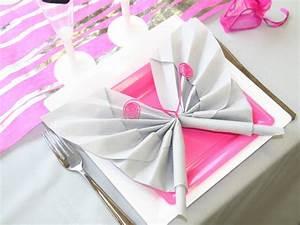 Serviette Table Tissu : pliage serviette tissu papier accueil design et mobilier ~ Teatrodelosmanantiales.com Idées de Décoration