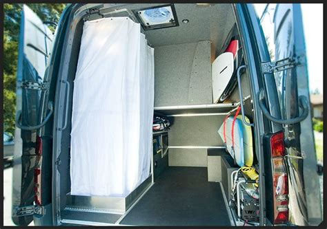 Pros privacy this bathroom provides the most amount of privacy, by far. Custom Sprinter   Camper van shower, Sprinter van, Camper van conversion diy