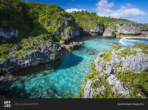 A popular swimming spot on Niue Island, Niue stock photo - OFFSET Niue