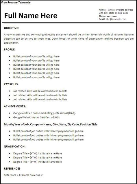 job resume templates  job resume job resume