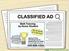 How to Advertise to Be a Tutor 13 Steps with Pictures