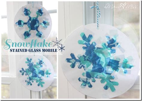 book craft snowflake stained glass mobile mamamiss