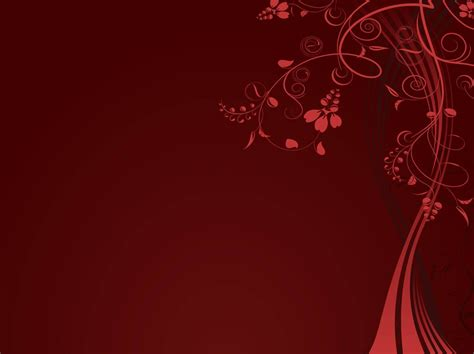 red floral background template vector art graphics